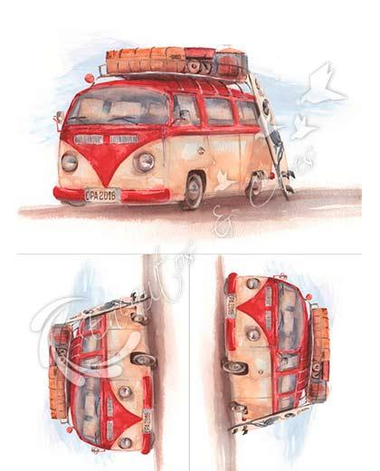 Opapel 30x45 Carros Kombi 2477 Encantos E Cores