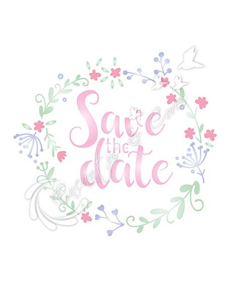 STENCIL LITOARTE STA-094 SAVE THE DATE