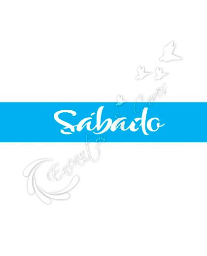 STENCIL JOIA JK 429 SEMANINHA SABADO