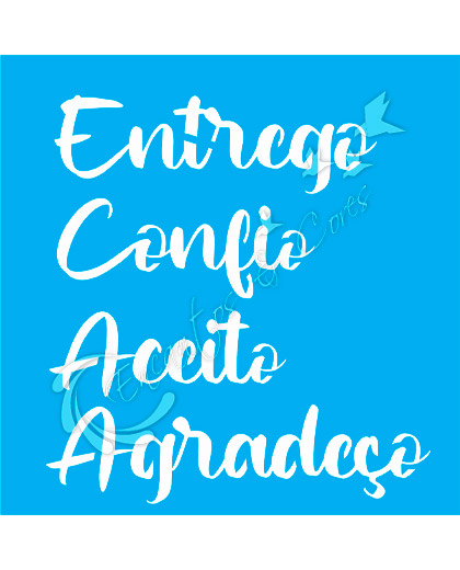 STENCIL JOIA QD 385 ENTREGO CONFIO