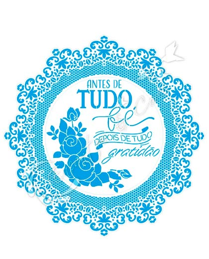 STENCIL LITOARTE STQG-030 GUIRLANDA RENDADA ANTES DE TUDO