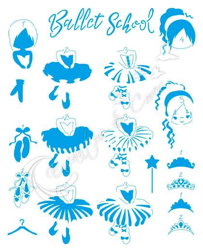 STENCIL LITOARTE STR-182 BAILARINAS BALLET SCHOOL