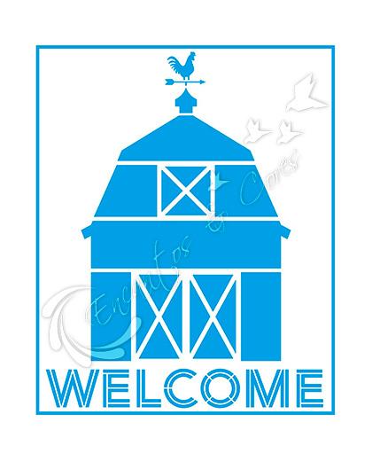 STENCIL LITOARTE STR-189 COUNTRY CELEIRO WELCOME