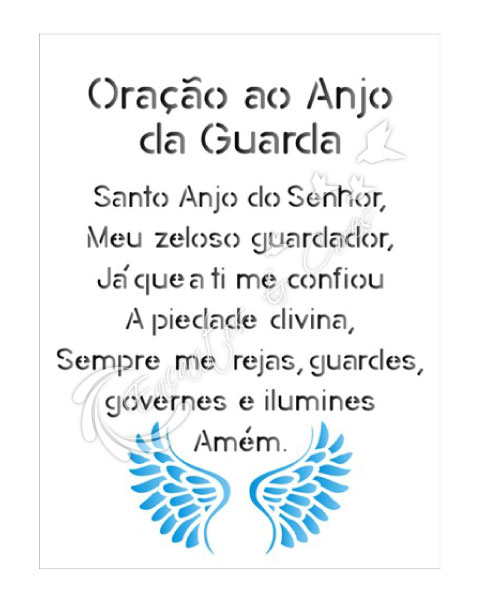 STENCIL OPA ORAÇÃO ANJO OPA1383