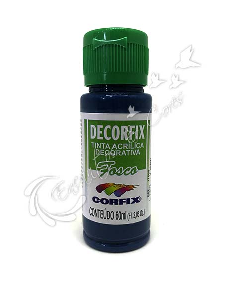 TINTA ACRÍLICA FOSCA DECORFIX 60ML COR 386 BLUE NIGHT