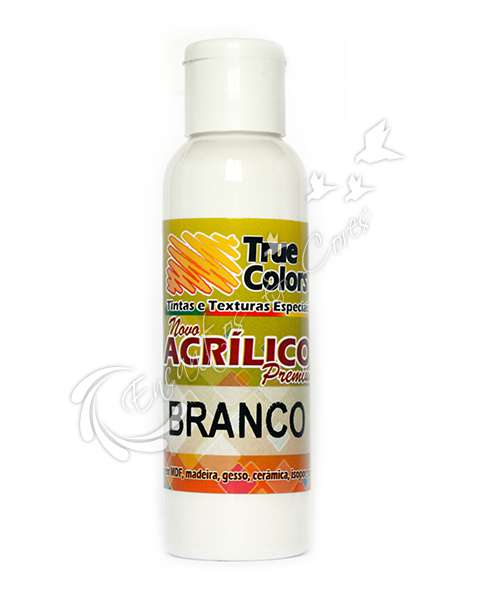 TINTA ACRILICA TRUE COLORS BRANCO 60 ML