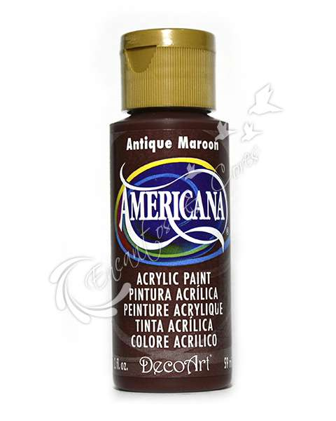 TINTAS / TINTA DECOART AMERICANA ANTIQUE MAROON 59ML