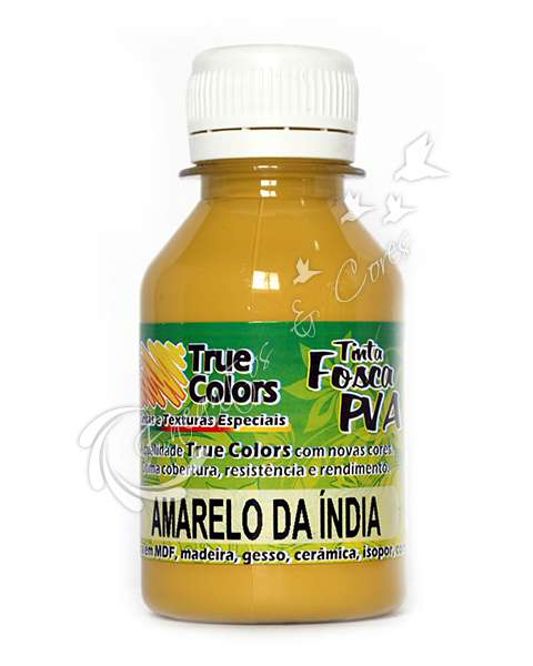 TINTA PVA FOSCA TRUE COLORS AMARELO DA INDIA 100ML