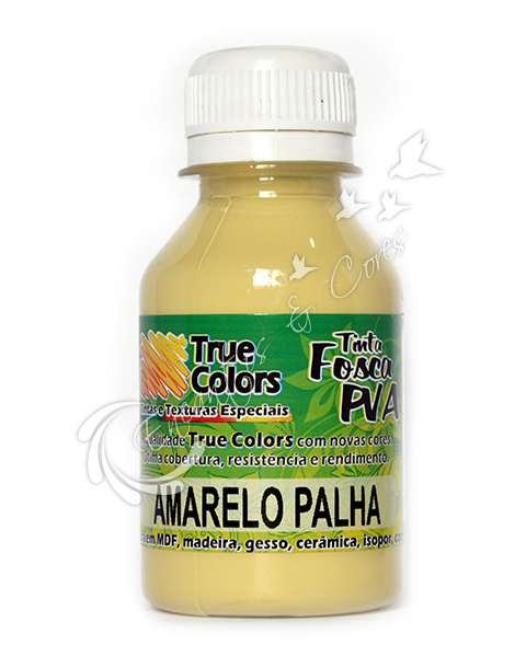 TINTA PVA FOSCA TRUE COLORS AMARELO PALHA 100ML