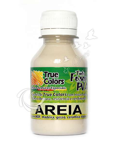 TINTA PVA FOSCA TRUE COLORS AREIA 100ML