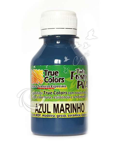 TINTA PVA FOSCA TRUE COLORS AZUL MARINHO 100ML