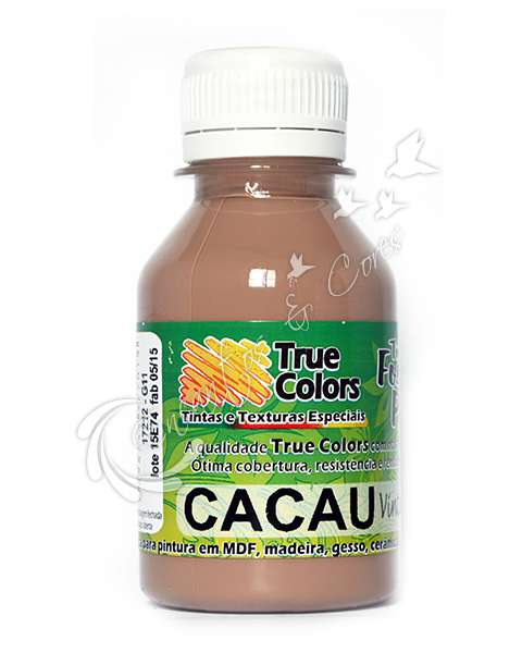 TINTA PVA FOSCA TRUE COLORS CACAU VINTAGE 100ML
