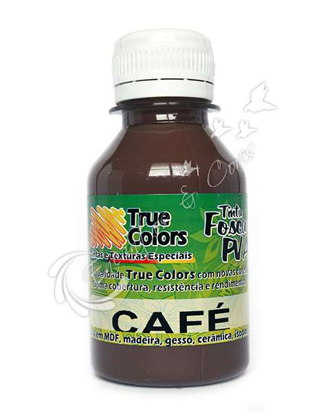 TINTA PVA FOSCA TRUE COLORS CAFÉ 100ML