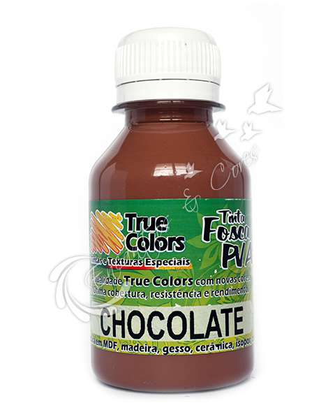 TINTA PVA FOSCA TRUE COLORS CHOCOLATE 100ML
